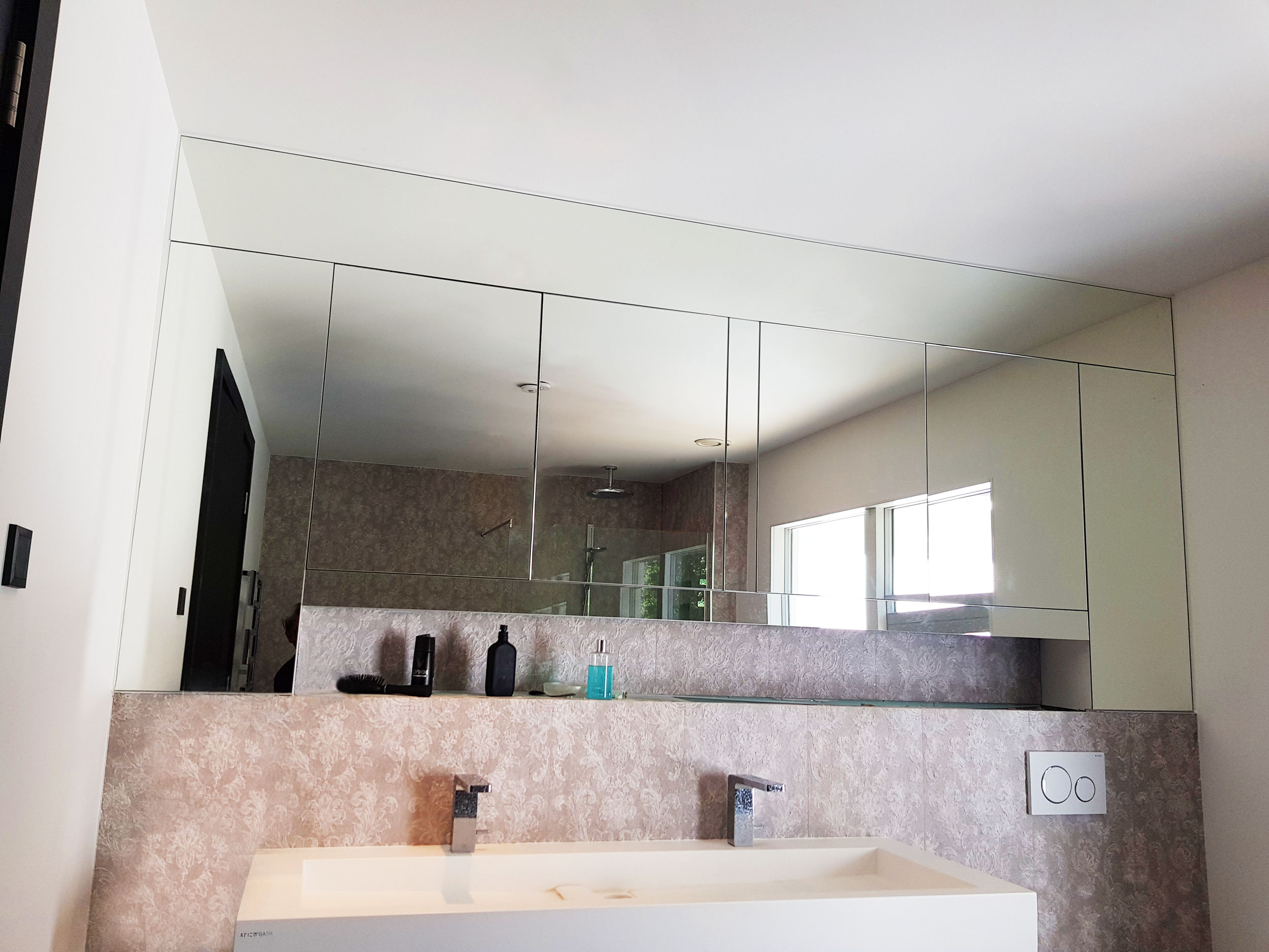 Bathroom cabinets mirror cladding